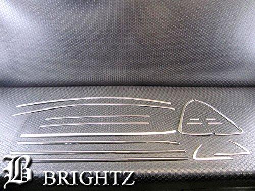 【 BRIGHTZ ポロ 6RC 超鏡面ステンレスメッキピラーパネル・ウィンドウモール・アッパーウィンドウモール バイザー無用 16PCセット 】 【 WIN-SET-026 】6RCHZ 6RCJZ 6RCJZW 6RCPT 6RCZE フォルクスワーゲン VW