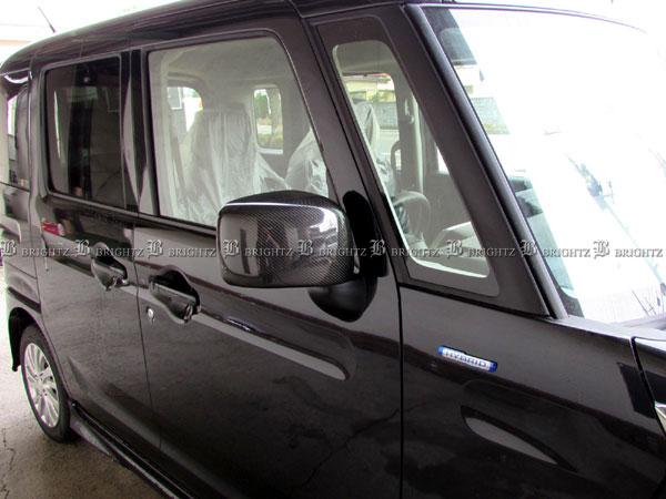 【 BRIGHTZ フレアワゴンカスタムスタイル MM53S リアルカーボンドアミラーカバー Dタイプ 】 【 MIR-SID-206 】 MM53 MM M53 53 フレアワゴン カスタムスタイル フレア ワゴン カスタム スタイル ドア ミラー ガーニッシュ ドア ミラー ハウジング