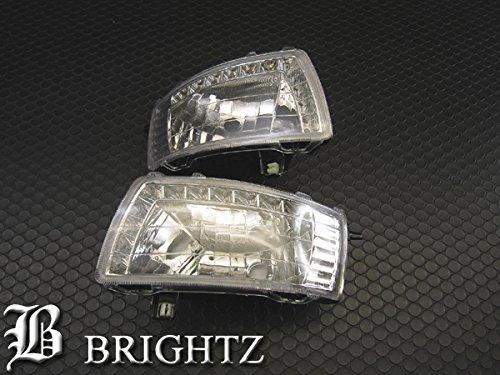 【 BRIGHTZ カローラフィールダー 121 122 123 124 LEDデイライト付き クリスタルフォグライト 】 【 FOG-H-014 】 120 NZE121G NZE124G ZZE122G ZZE123G ZZE124G CE121G