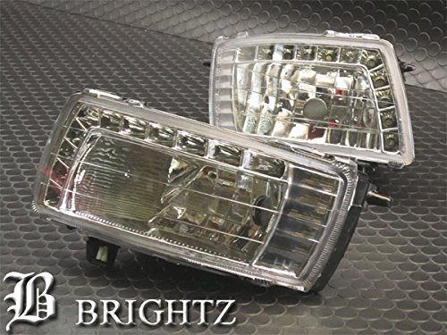 【 BRIGHTZ カローラランクス 121 124 LEDデイライト付き クリスタルフォグライト 】 【 FOG-H-014 】 120 NZE121 NZE124 ZZE123