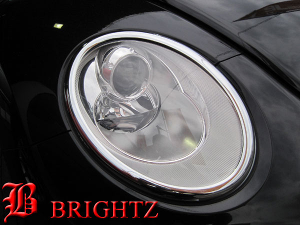 【 BRIGHTZ NEWビートルカブリオレ 1Y 後期 クロームメッキヘッドライトリングリム 】 【 HEAD-027 】