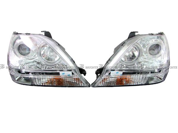 【 BRIGHTZ ハリアー 10 15 CCFLイカリング付メッキプロジェクターヘッドライト 】 【 HEAD-H-008 】 ACU10W ACU15W MCU10W MCU15W SXU10W SXU15W ハリヤー