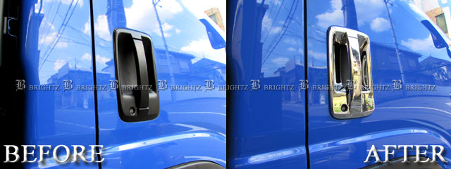 【 DHC−NOBU−003 】 【 BRIGHTZ いすゞ 07フォワード メッキドアハンドルカバー ノブ皿セット Bタイプ 】