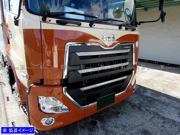 【 BRIGHTZ UDトラックス クオン 超鏡面ステンレスメッキサラウンドグリルモール 6PC 】 【 TRUCK-L-065 】 日産 UD トラックス