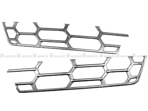 グリル 正規認証品 新規格 限定タイムセール フロント ガーニッシュ BRIGHTZ 三菱ふそう 17スーパーグレート ミツビシ TRUCK-M-022 超鏡面ステンレスメッキメッシュグリルカバー 三菱 ふそう