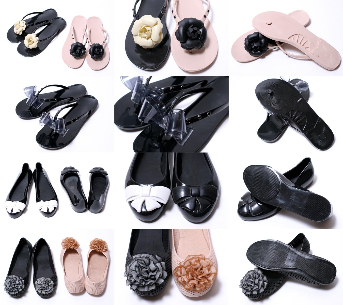 카멜리아 플라워 고무 샌들의 코 사지와 고무 신발에서 7 유형 10P28oct13