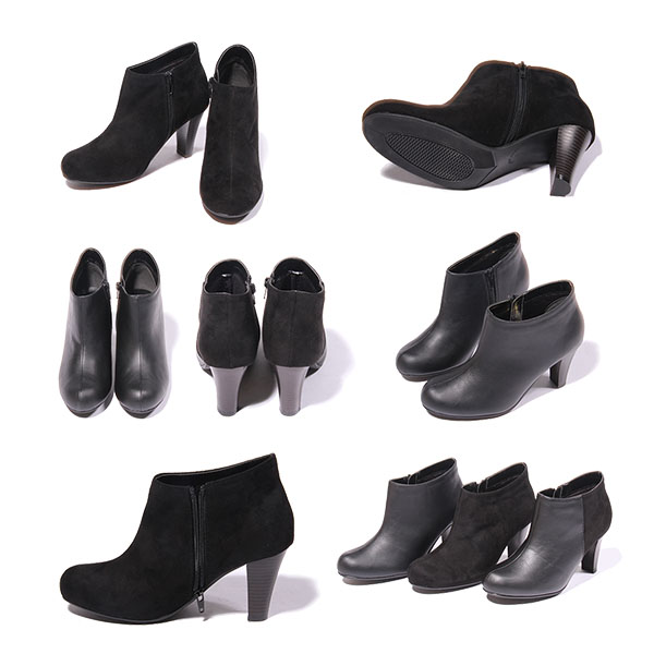 Different material transitions smooth x-suede heel UP ankle boots P27Mar15