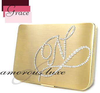 Amorousluxe crystal deco bijoumore international ltd rakuten amorous grace business card holder card case initial design swarovski crystal gold units deco accessories and mobile phones and smahodeco design to colourmoves
