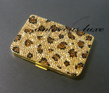 Amorousluxe crystal deco bijoumore international ltd rakuten amorous leopard business card holder card case leopard leopard pattern design swarovski crystal gold units deco accessories and mobile phones and colourmoves