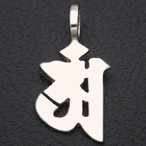 守護梵字 アン 辰(たつ) 巳(へび) 普賢菩薩(ふげんぼさつ) ペンダント ネックレス シルバー お守り プレゼント