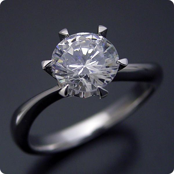 1カラット 婚約指輪 50万円 1ct プラチナ ダイヤモンド プロポーズ ジュエリー プレゼント ブライダル 結婚指輪 マリッジリング エンゲージリング Hカラー-SI2クラス 宝石鑑定書付き 受注生産 1カラット版:アームデザインが新しいティファニーセッティングの婚約指輪