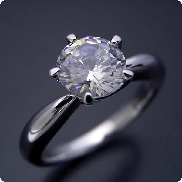 1カラット 婚約指輪 50万円 1ct プラチナ ダイヤモンド プロポーズ ジュエリー プレゼント ブライダル 結婚指輪 マリッジリング エンゲージリング Hカラー-SI2クラス 宝石鑑定書付き 受注生産 1カラット版:珍しい5本爪の婚約指輪