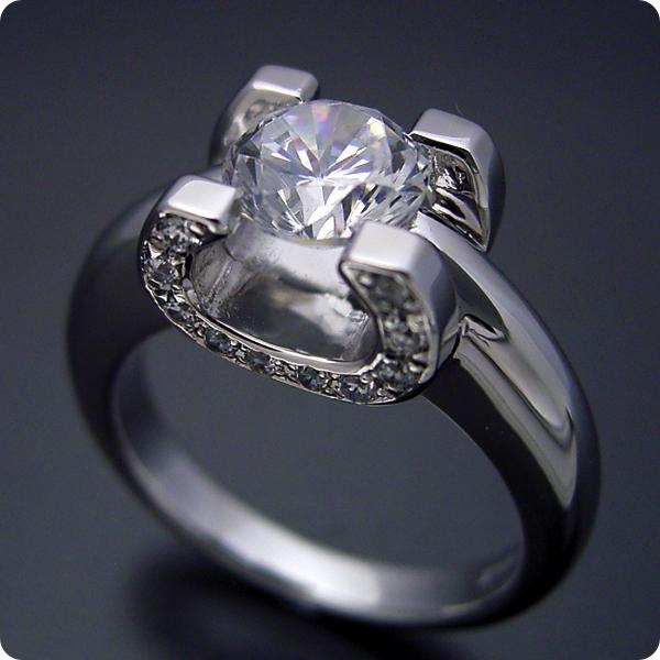 100万円 婚約指輪 1カラット エンゲージリング 1ctダイヤモンド プロポーズ用 ブライダルジュエリー プラチナ 1カラット版:ブランドジュエリーに似たような婚約指輪 Hカラー・Si1クラス・Goodカット 宝石鑑定書付き
