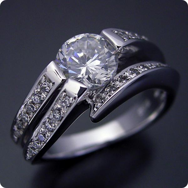 婚約指輪 1カラットダイヤモンド エンゲージリング プラチナ 全商品オープニング価格 ダイヤモンド 受注生産品 1カラットらしいデザインを考えた婚約指輪 ブライダルジュエリー 宝石鑑別書付き 大幅にプライスダウン 標準仕様グレード 1カラット 結婚指輪 1ct マリッジリング