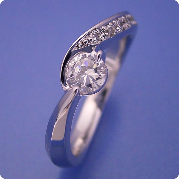 【婚約指輪】エンゲージリング【0.3カラット】一粒【0.3ct】ダイヤモンド【ブライダルジュエリー】プラチナ【結婚指輪】マリッジリング【シンプルで相当スタイリッシュな婚約指輪】Dカラー・VVS1クラス・Excellentカット・H&Q【宝石鑑定書付き】
