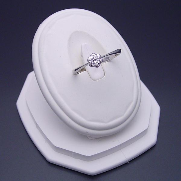 婚約指輪 0 5カラット エンゲージリング 一粒 ダイヤモンド プロポーズ用 ブライダルジュエリー プラチナ フラワーデザイン伏せこみタイプの婚約指輪 Gカラー・Si1クラス・Goodカット 宝石鑑定書付きnN0w8OPkXZ