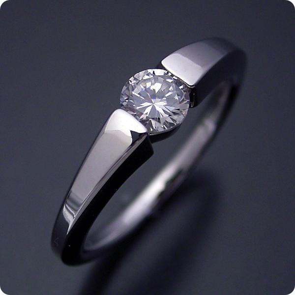 【婚約指輪】エンゲージリング【0.3カラット】一粒【0.3ct】ダイヤモンド【ブライダルジュエリー】プラチナ【結婚指輪】マリッジリング【スッキリとスタイリッシュな婚約指輪】Fカラー・VS1クラス・Goodカット【宝石鑑定書付き】