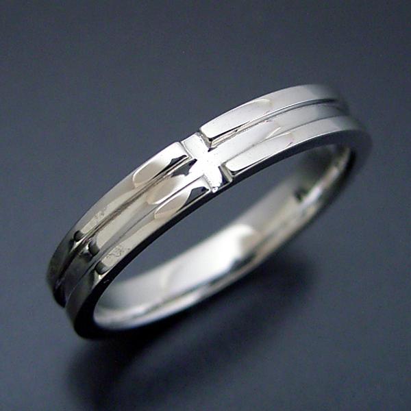結婚指輪 マリッジリング プラチナ900 ペアリング プレゼント プロポーズ【シンプルなクロスラインの結婚指輪】