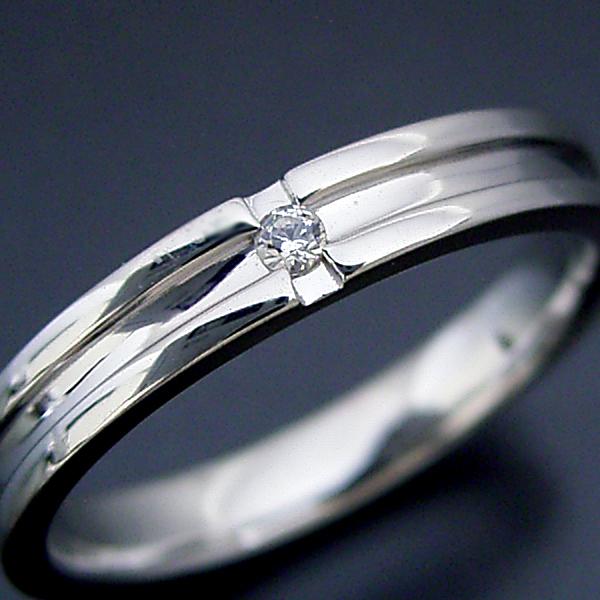 結婚指輪 新品■送料無料■ マリッジリング プラチナ900 ペアリング 人気 おすすめ プレゼント プロポーズ シンプルなクロスラインのダイヤモンド入り結婚指輪
