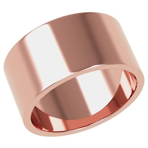 結婚指輪 マリッジリング 平打ちリング 10ミリ ペアリング K18ゴールド プロポーズ【平打ちリング・10mm幅・K18ピンクゴールド】