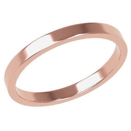 結婚指輪 マリッジリング 平打ちリング 2ミリ ペアリング K18ゴールド プロポーズ【平打ちリング・2mm幅・K18ピンクゴールド】