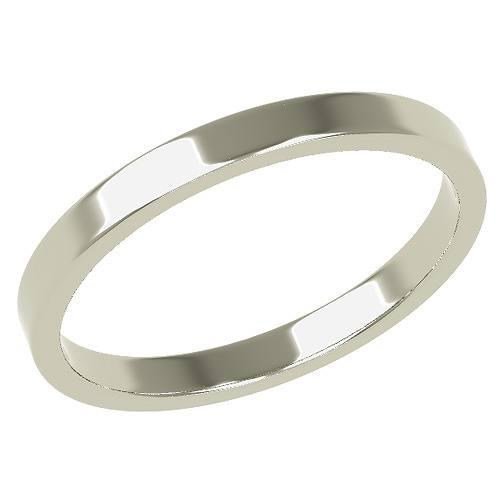 結婚指輪 マリッジリング 平打ちリング 2ミリ ペアリング K18ホワイトゴールド プロポーズ【平打ちリング・2mm幅・K18ホワイトゴールド】