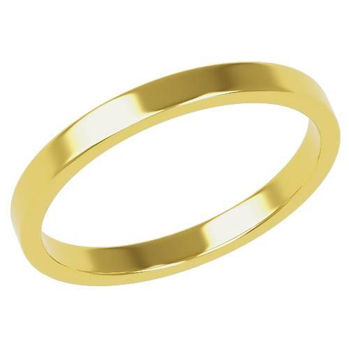 結婚指輪 マリッジリング 平打ちリング 2ミリ ペアリング K18ゴールド プロポーズ【平打ちリング・2mm幅・K18ゴールド】