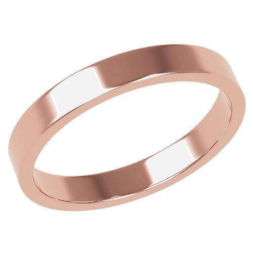 結婚指輪 マリッジリング 平打ちリング 3ミリ ペアリング K18ゴールド プロポーズ【平打ちリング・3mm幅・K18ピンクゴールド】