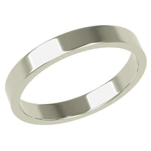 結婚指輪 マリッジリング 平打ちリング ついに再販開始 3ミリ K18ホワイトゴールド ペアリング 3mm幅 プロポーズ 格安店