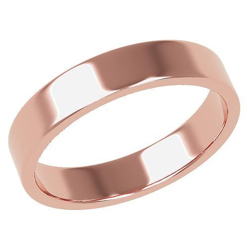 結婚指輪 マリッジリング 平打ちリング 4ミリ ペアリング K18ゴールド プロポーズ【平打ちリング・4mm幅・K18ピンクゴールド】