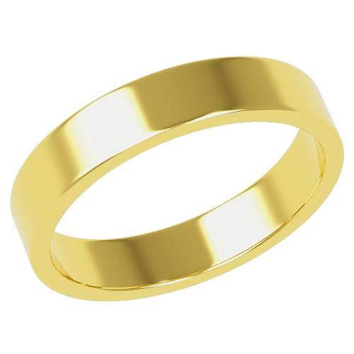 結婚指輪 マリッジリング 平打ちリング 4ミリ ペアリング K18ゴールド プロポーズ【平打ちリング・4mm幅・K18ゴールド】