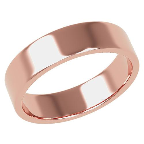 結婚指輪 マリッジリング 平打ちリング 5ミリ ペアリング K18ゴールド プロポーズ【平打ちリング・5mm幅・K18ピンクゴールド】