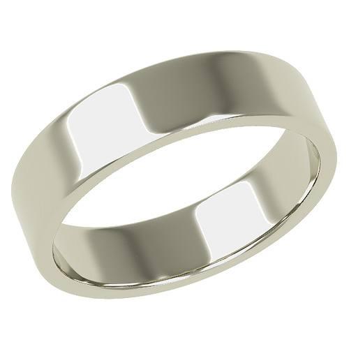 結婚指輪 マリッジリング 平打ちリング 5ミリ ペアリング K18ホワイトゴールド プロポーズ【平打ちリング・5mm幅・K18ホワイトゴールド】