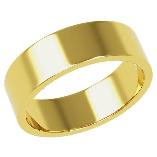 結婚指輪 マリッジリング 平打ちリング 6ミリ ペアリング K18ゴールド プロポーズ【平打ちリング・6mm幅・K18ゴールド】