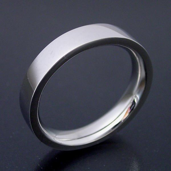 結婚指輪 マリッジリング 平打ちリング 3.5ミリ ペアリング プラチナ900 プロポーズ【平打ちタイプの結婚指輪「極(きわみ)平打ち type 2」】