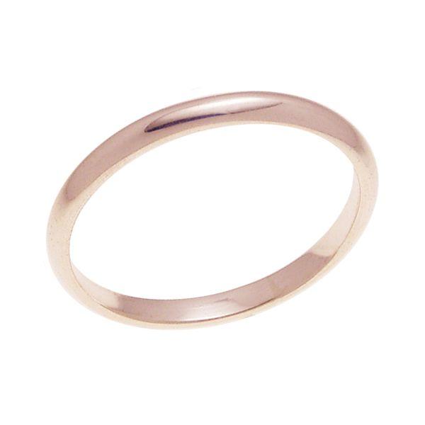 結婚指輪 マリッジリング 甲丸リング 2ミリ ペアリング K18ゴールド プロポーズ【甲丸リング・2mm幅・K18ピンクゴールド】