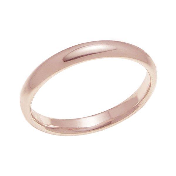 結婚指輪 マリッジリング 甲丸リング 3ミリ ペアリング お気にいる 3mm幅 プロポーズ K18ゴールド 年中無休 K18ピンクゴールド