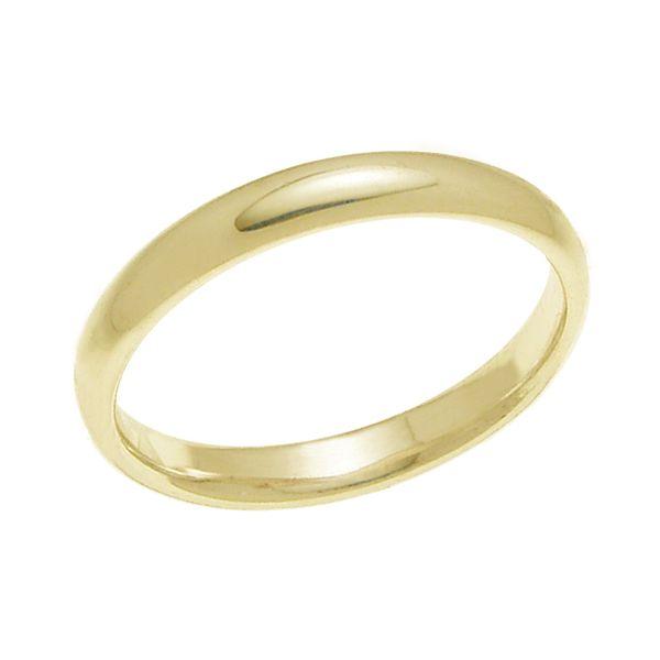 結婚指輪 マリッジリング 甲丸リング 3ミリ ペアリング K18ゴールド プロポーズ【甲丸リング・3mm幅・K18ゴールド】