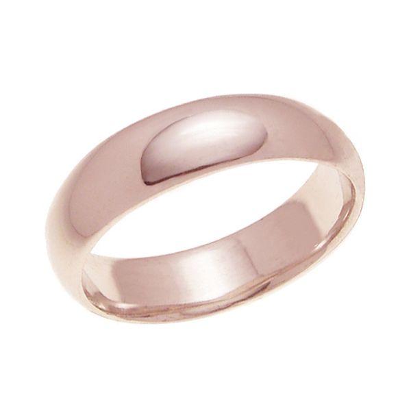 結婚指輪 マリッジリング 甲丸リング 5ミリ ペアリング K18ゴールド プロポーズ【甲丸リング・5mm幅・K18ピンクゴールド】
