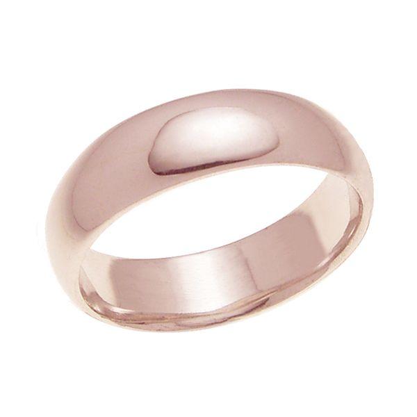 結婚指輪 マリッジリング 甲丸リング 6ミリ ペアリング K18ゴールド プロポーズ【甲丸リング・6mm幅・K18ピンクゴールド】
