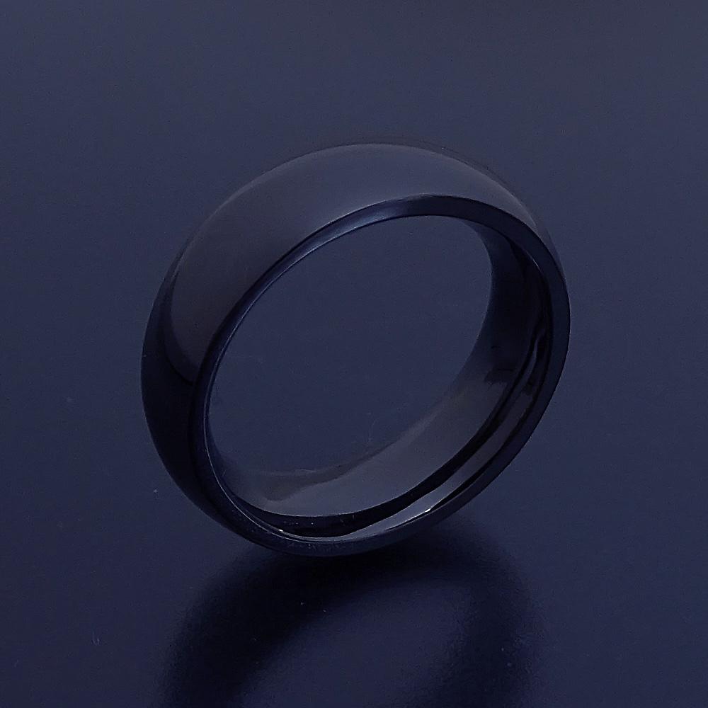 結婚指輪 マリッジリング 甲丸リング iPhone7 ジェットブラック ペアリング ロード・オブ・ザ・リング【最高に気持ちが良い着け心地の結婚指輪「一つの指輪~ジェットブラックモデル~」 [OneRing Black]】