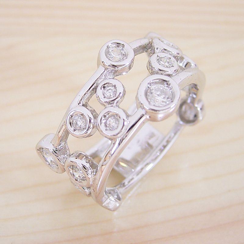 結婚指輪 マリッジリング ダイヤモンド ブライダルジュエリー プラチナ 結婚指輪 マリッジリング【星が輝く指輪】