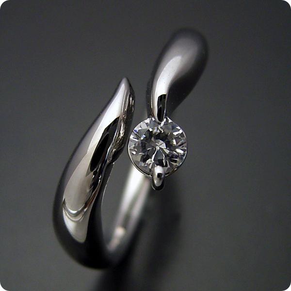 20万円【婚約指輪】エンゲージリング【0.3カラット】一粒【0.3ct】ダイヤモンド【ブライダルジュエリー】プラチナ【結婚指輪】マリッジリング【柔らかいラインでシンプルなデザインの婚約指輪】Fカラー・SI1クラス・Goodカット【宝石鑑定書付き】