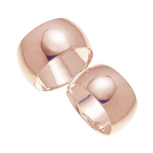 ペアリング 結婚指輪 マリッジリング 甲丸リング 10ミリ K18ゴールド プロポーズ【ペアリング・甲丸リング・10mm幅・K18ピンクゴールド】