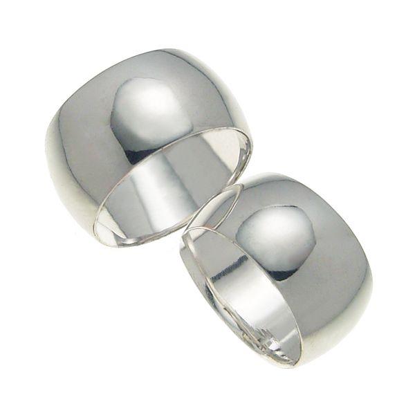 結婚指輪 マリッジリング 甲丸リング 10ミリ ペアリング K18ホワイトゴールド プロポーズ【甲丸リング・10mm幅・K18ホワイトゴールド】