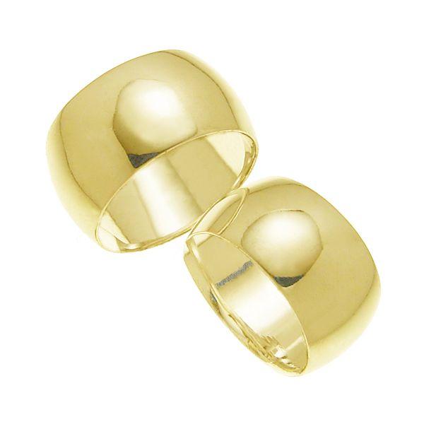 ペアリング 結婚指輪 マリッジリング 甲丸リング 10ミリ K18ゴールド プロポーズ【ペアリング・甲丸リング・10mm幅・K18ゴールド】
