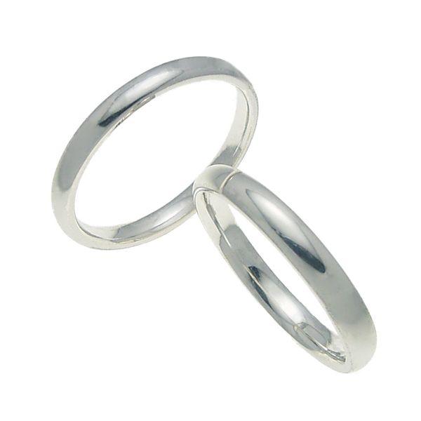 ペアリング 結婚指輪 マリッジリング 甲丸リング 3ミリ K18ホワイトゴールド プロポーズ【ペアリング・甲丸リング・3mm幅・K18ホワイトゴールド】