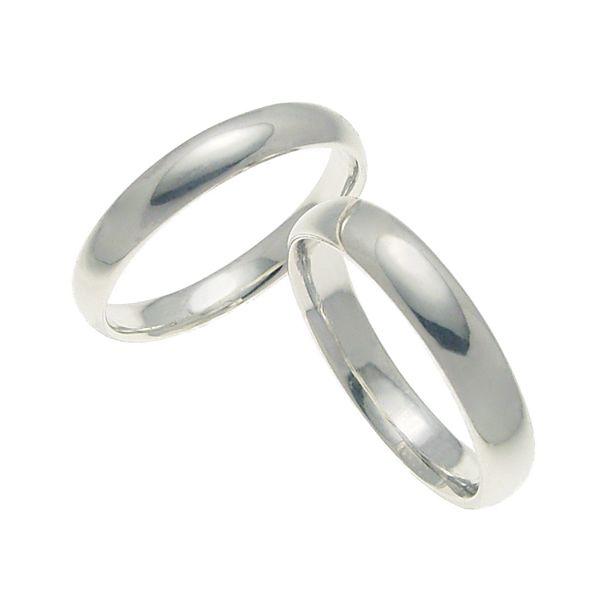 ペアリング 結婚指輪 マリッジリング 甲丸リング 4ミリ K18ホワイトゴールド プロポーズ【ペアリング・甲丸リング・4mm幅・K18ホワイトゴールド】