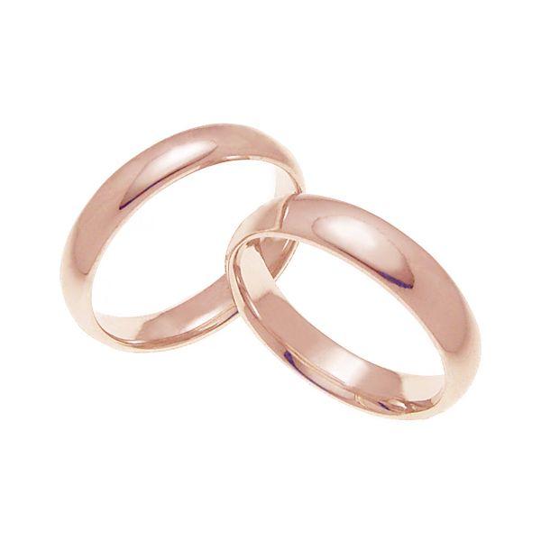 ペアリング 結婚指輪 マリッジリング 甲丸リング 5ミリ K18ゴールド プロポーズ【ペアリング・甲丸リング・5mm幅・K18ピンクゴールド】