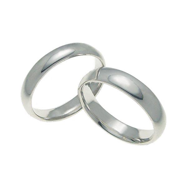 ペアリング 結婚指輪 マリッジリング 甲丸リング 5ミリ ペアリング K18ホワイトゴールド プロポーズ【甲丸リング・5mm幅・K18ホワイトゴールド】